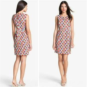 kate spade Abbey Geometric Print Sheath Dress 8